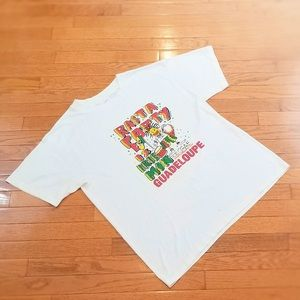 Rare Vintage Rasta Party Tee from Guadeloupe